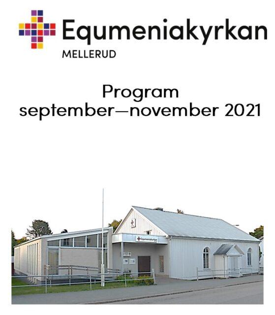Nu finns ett nytt Programblad för sep-nov 2021